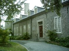 Chateau Ramezay Museum in Montreal, Canada.  North Country Unfading Black roofing slate produced from quarry in St. Marc Du Lac Long, Quebec.