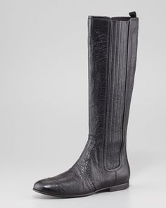 Arena Stretch Leather Knee Boot by Balenciaga at Neiman Marcus. $1,085
