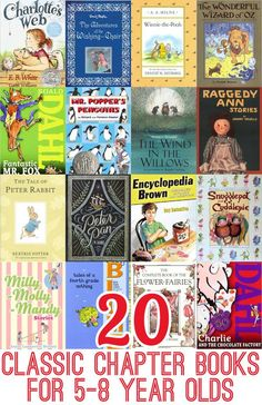 Classic Chapter Books for Year Olds: Great Read Aloud Titles Introduce chapter books to your young children with these twenty classic titles.Introduce chapter books to your young children with these twenty classic titles. Kids Reading, Teaching Reading, Reading Books, Learning, Summer Reading Lists, Reading Time, Good Books, My Books, Read Aloud Books