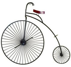 Metal Bicycle Wall Decor high wheel bicycle wall art http://rstyle/n/eaphsr9te | awesome