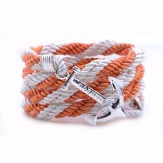 AlumniCrew Orange/White  Are you ready to rock your school colors in authentic Alumni Crew Style? The Joseph Nogucci Alumni Crew Bracelet Collection has brought the ancient symbolism of nautical exploration and turned it into a fashion statement that says a lot about the adventurer in you and is designed to make a splash by letting you flaunt your school spirit. - See more at: http://www.josephnogucci.com/products/alumnicrew-blue-gold#sthash.3VjePkBK.dpuf