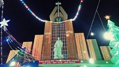 Church, christmas neon light, vietnam.