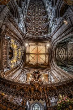 Chester Cathedral HDR Cathedral Architecture, Religious Architecture, Gothic Architecture, Historical Architecture, Ancient Architecture, Chester Cathedral, Cathedral Church, Chester Cheshire, My Favorite Image