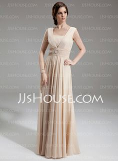 Mother of the Bride Dresses - $138.99 - A-Line/Princess Square Neckline Floor-Length Chiffon Mother of the Bride Dress With Ruffle Beading (008005992) http://jjshouse.com/A-Line-Princess-Square-Neckline-Floor-Length-Chiffon-Mother-Of-The-Bride-Dress-With-Ruffle-Beading-008005992-g5992