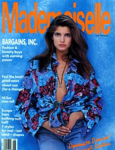 Stephanie Seymour by Jaques Malignon - Mademoiselle US June 1989