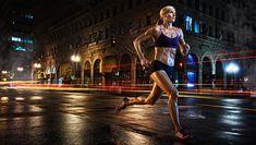 dean bradshaw night street runner lights blur