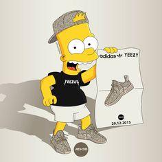 The Simpsons as Sneakerheads in Yeezy Boost
