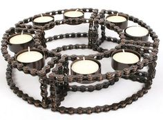 Candle holder - bicycle chain