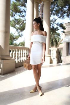 sazan, sazan hendrix, white dress, off shoulder, instagrammers, blogger, cult gaia, off the shoulder tube dress, tube dress, zara, bamboo, topknot, chic hairstyles, affordable finds, shop, reward style, kurdish, street style, photography, fashion, beauty, makeup, walk