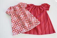 Patron : robe / blouse paysanne bébé (taille à adapter)