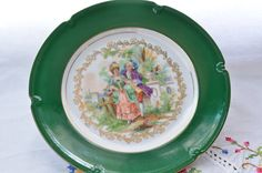 Winterling Bavaria Germany plate/ romantic scene by VieuxCharmes on Etsy