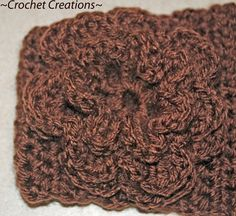 Crochet Creative Creations- Free Patterns and Instructions: Crochet Headband with Flower