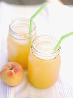 roasted peach lemonade. oh, baby.