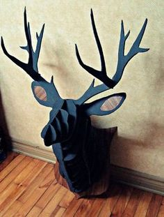 Superb DIY Cardboard Deer Head