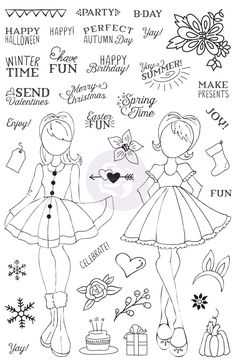 """Julie Nutting Planner Clear Stamp - """"Holiday Bliss"""""""