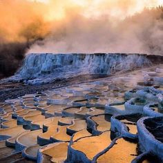 """Pamukkale, meaning """"cotton castle"""" in Turkish, is a natural site in Denizli in southwestern Turkey. The area is famous for a carbonate… Backpacking Europe, Europe Travel Tips, Europe Packing, Packing Lists, Travel Hacks, Travel Packing, Travel Essentials, Sunrise Photography, Landscape Photography"""