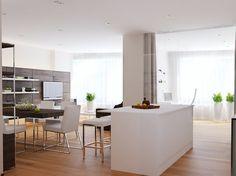 konyhasziget  - Stílusosan, egyszerű vonalakkal - modern lakás lakberendezési…
