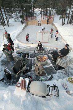 No ice time, No problem - Come on over to my house - Open 24/7 - TOO COOL - Grillin', Chillin'  Hockey!!