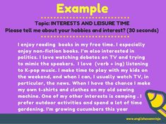 Aptis speaking test Task 1 &2 Job Interview Questions, Hobbies And Interests, Nonfiction Books, Books To Read, Politics, This Or That Questions, My Love, Reading, Reading Books
