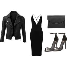 """All Black Everything // @D"" by heydenzy on Polyvore"