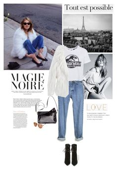 """Camille Rowe's vintage look."" by v-niika ❤ liked on Polyvore featuring New Look, Jeffrey Campbell, Pepe Jeans London, Oliver Gal Artist Co. and vintage"