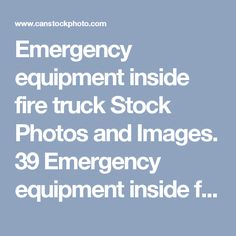 Emergency equipment inside fire truck Stock Photos and Images. 39 Emergency equipment inside fire truck pictures and royalty free photography available to search from thousands of stock photographers.