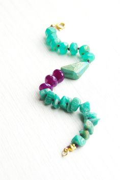 great colors! hand knotted gemstone bracelet by xoxiishop