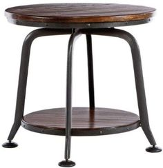 """Amazon.com: Industrial Park Side Table, 18""""x36"""", DISTRESSED: Furniture & Decor"""