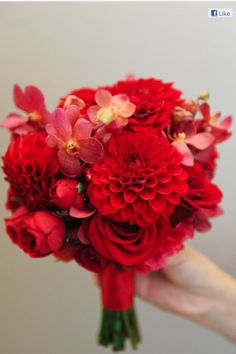 Red bouquet by Wenfloral Design Studio-Arcadia CA