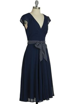 Navy blue and polka dots! (modcloth)