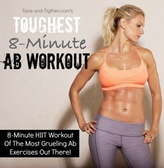 The toughest ab workout you can do in 8 minutes | From Tone-and-Tighten.com