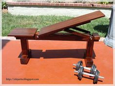 DIY a beautiful Weight Bench that can double as extra seating.