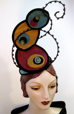 Abstract Impressionist Inspired Fascinator by OrsiniMedici on Etsy, $225.00