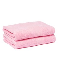 Loving this Pink Goza Bath Towel - Set of Two on #zulily! #zulilyfinds