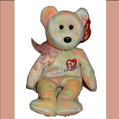 TY Beanie Baby Internet Excl 7, 6, 5, 4 version 8.5 in COUNTDOWN the Bear
