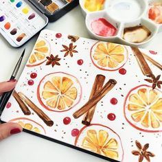 Draw ideas with detailed instructions Simple drawings for beginners, orange slices drawing cinnamon and berries with watercolors detailed Draw ideas instructions winterbastelnkinder wintercoffee winterdeko winterflowers winterfotografie winterhouse w Christmas Diy, Christmas Cards, Winter Drawings, Easy Drawings For Beginners, Beautiful Drawings, Simple Drawings, Detailed Drawings, Beautiful Pictures, Christmas Drawing