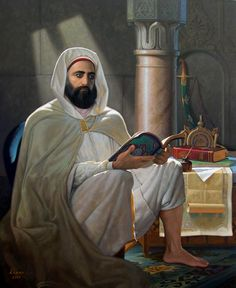 Abd el-Kader ben Muhieddine (arabe : عبد القادر بن محي الدين), plus connu comme l'émir Abdelkader, e - galerie. Islamic World, Islamic Art, Karbala Photography, Art Occidental, Arabian Beauty, Professional Painters, Art Academy, Ottoman Empire, Arabian Nights