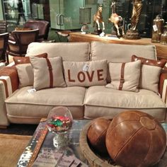 Linen and Leather Las Vegas World, Rustic Couch, Market Trends, World Market, Artisan, House Design, Sofa, Leather, Inspiration