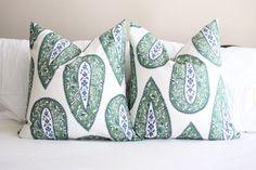 Lacefield bindi kelly kelly green pillow covers paisley
