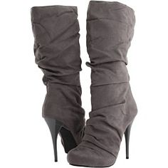 Grey heeled boots. if-the-shoe-fits