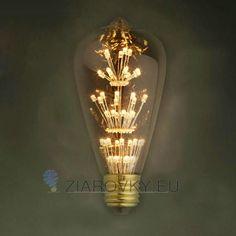 Vďaka štandardnej pätici E27 ju môžete použiť do akéhokoľvek lustra, lampy ktorá má túto päticu. Vďaka svojmu dizajnu sa táto žiarovka hodí ako diskrétne efektné osvetlenie na večerné posedenie.  Žiarovky z kolekcie FIREWORKS sú ručne vyrábané, avšak na rozdiel od žiaroviek z kolekcie EDISON nie sú stmievateľné!