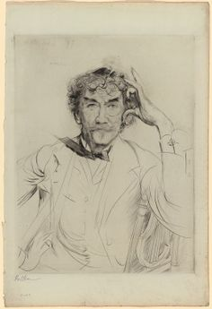 POUL WEBB ART BLOG: Paul César Helleu - part 1 - Sketch of James McNeil Whistler