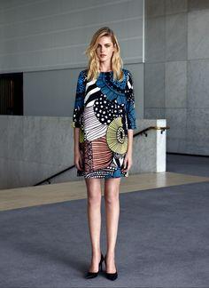 Biak dress by Marimekko Fashion Brand, Retro Fashion, Fashion Models, Womens Fashion, Fashion Design, Fashion 2015, Marimekko Dress, Textiles, Cute Summer Outfits