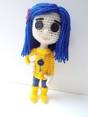 Coraline inspired by Coraline - by Sharon from Amigurumi Freely