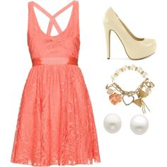 """""""pink lace"""" by emr19 on Polyvore"""