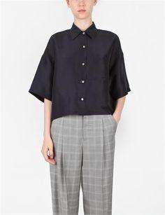 Creatures Of Comfort Tinzen Shirt Solid Shantung Night