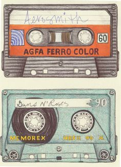 ilustration drawing by Christina McLean. coloured pencil, graphite and marker Aesthetic Backgrounds, Aesthetic Wallpapers, Cassette, Casette Tapes, Aesthetic Drawing, Aesthetic Collage, Gcse Art Sketchbook, I Wallpaper, Vintage Travel Posters