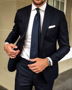 Handsome Black Groom Tuxedos 2019 One Button Notched Lapel Groomsmen Men Wedding Tuxedos Party Prom Suits (Jacket Pants Tie) Anzüge The Suits, Men's Suits, Grad Suits, Mens Fashion Blog, Mens Fashion Suits, Fashion Guide, Fashion Hair, Fashion Boots, Outfit Hombre Formal
