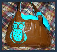 Duct tape owl purse