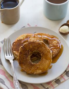 Spiced Apple Ring Pancakes. A much better consistency then the ones I've made previously <3 so heavenly with a piece of cheddar cheese